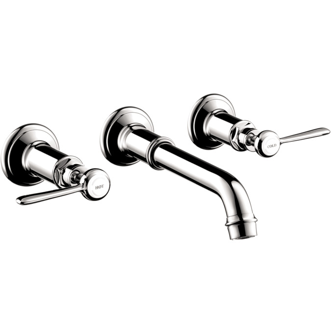 axor montreux wallmounted widespread faucet trim with lever handles 12 gpm