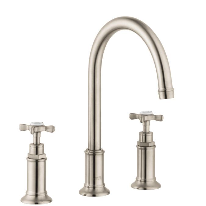 axor montreux washbasin faucets two handle brushed. Black Bedroom Furniture Sets. Home Design Ideas