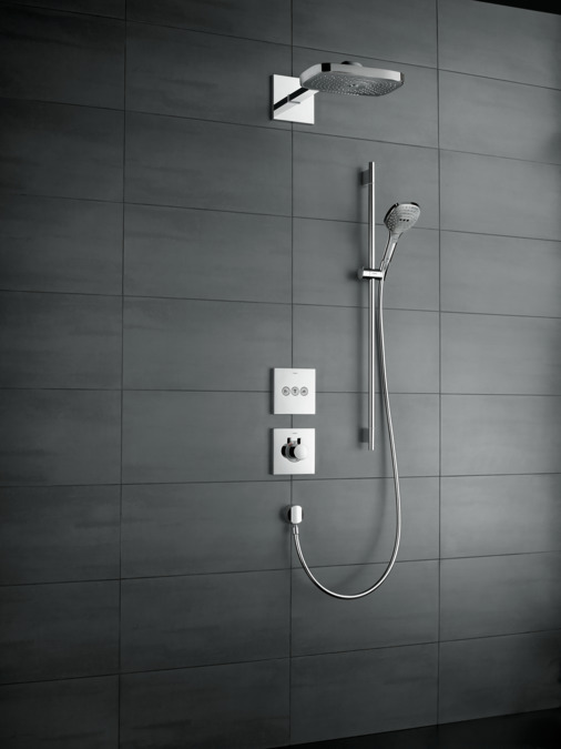 hansgrohe brausesets raindance select e brauseset 120 3jet mit brausestange 90 cm und. Black Bedroom Furniture Sets. Home Design Ideas