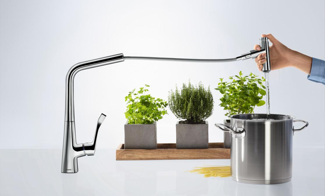 hansgrohe mitigeurs de cuisine metris select metris select 320 mitigeur de cuisine avec. Black Bedroom Furniture Sets. Home Design Ideas