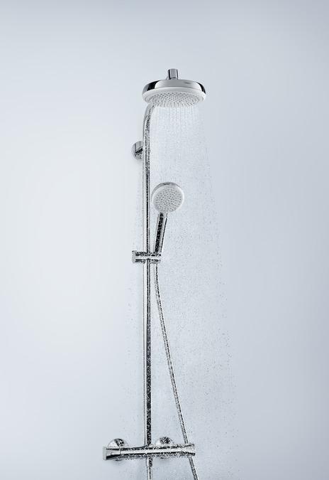 hansgrohe showerpipe suihkut crometta 1 suihkumuoto 27264400. Black Bedroom Furniture Sets. Home Design Ideas