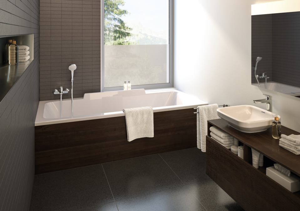 logis mitigeurs bain douche 2 sorties 2 fonctions chrom 71400000. Black Bedroom Furniture Sets. Home Design Ideas