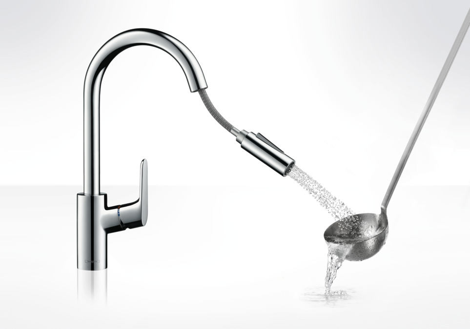 hansgrohe Kitchen mixers: Focus, Single lever kitchen mixer 240 with ...