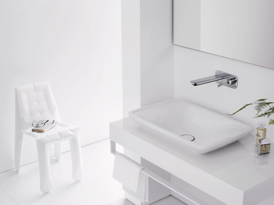 Puravida mitigeurs de lavabo mitigeur blanc chrom 15084400 Mitigeur mural lavabo encastre