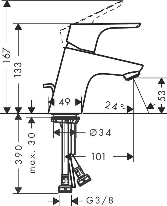focus washbasin mixers single lever chrome 31730000. Black Bedroom Furniture Sets. Home Design Ideas