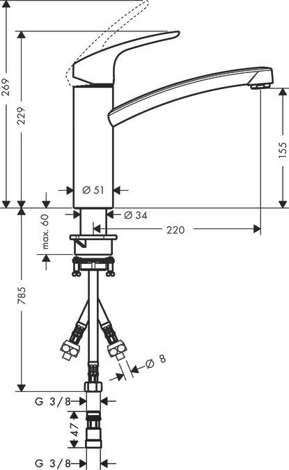 Cool hansgrohe Kitchen mixers: Focus, Single lever kitchen mixer 160  TQ09