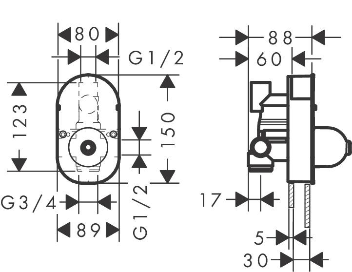 hansgrohe shower mixer installation instructions
