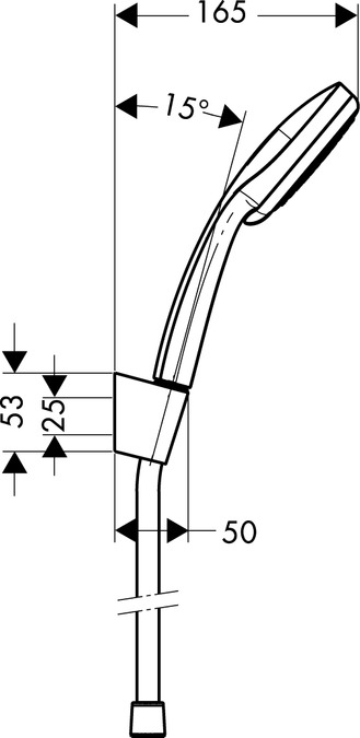 Sehr Gut hansgrohe Sets de douche: Croma 100, Set Porter'S 1,60m/Croma 100  YU17