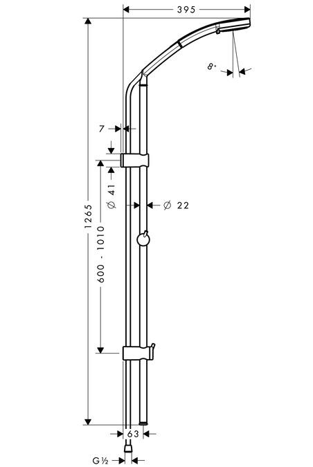 Frisch hansgrohe Brausesets: Croma 100, Croma 100 Multi Handbrause/ Unica  GP79