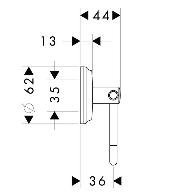 Accesorios De Baño Hansgrohe:Hansgrohe Accesorios: Portarrollos sin tapa, ref 41626000