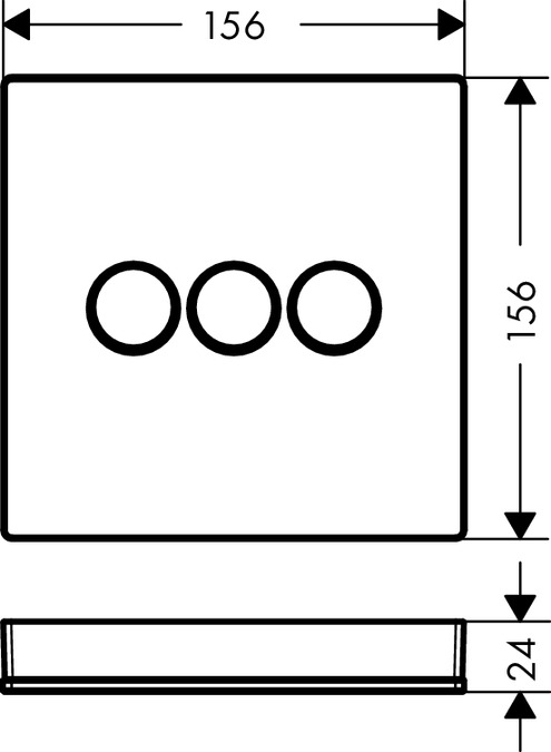 ShowerSelect Glass Duschblandare  för 3 funktioner 3d79aa8608330