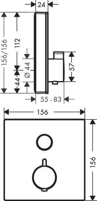 ShowerSelect Glass Duschblandare  för 1 funktion b242a3bb7dca4