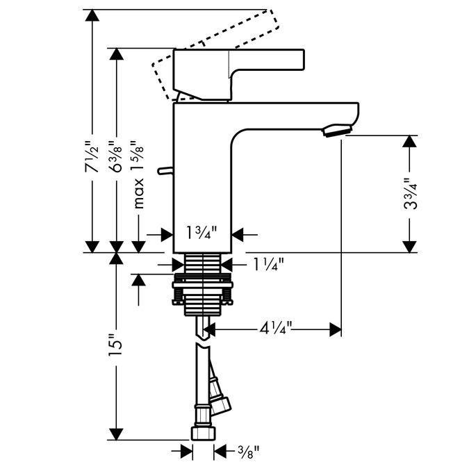 Metris S Washbasin faucets: chrome, 31060001