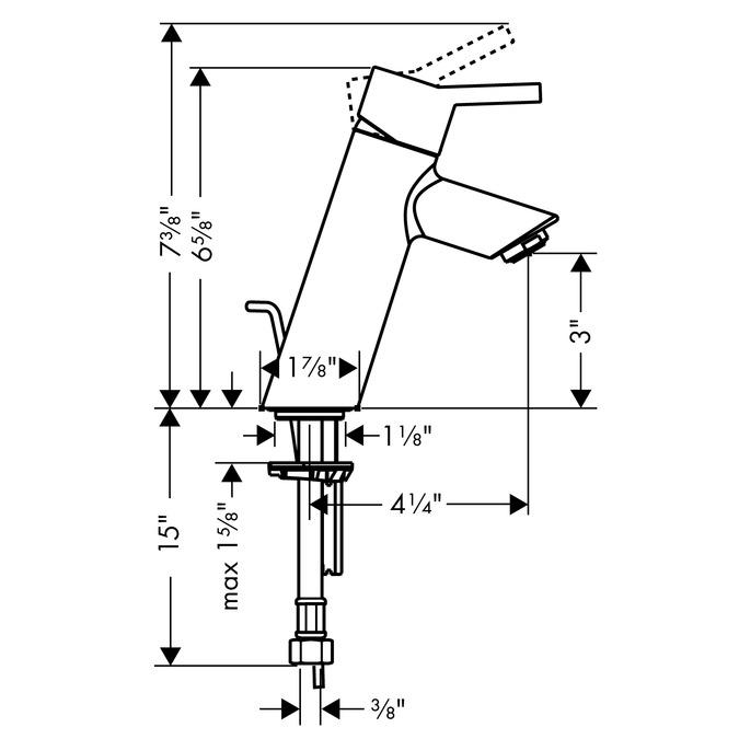 Talis S Single Hole Faucet, 1.2 GPM