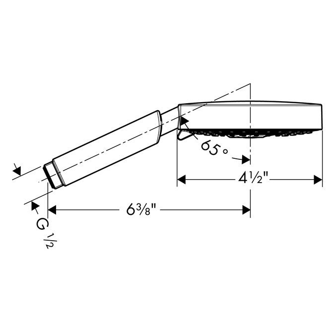 hansgrohe handshowers raindance s 3 spray modes 28514821. Black Bedroom Furniture Sets. Home Design Ideas