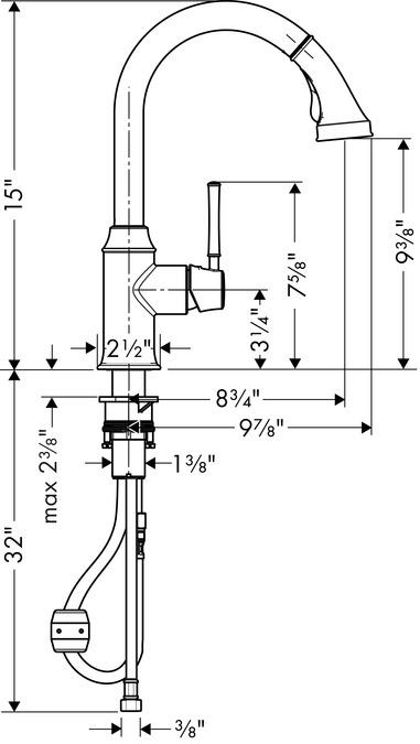 hansgrohe Kitchen faucets: Talis C, Talis C 2-Spray HighArc Kitchen ...