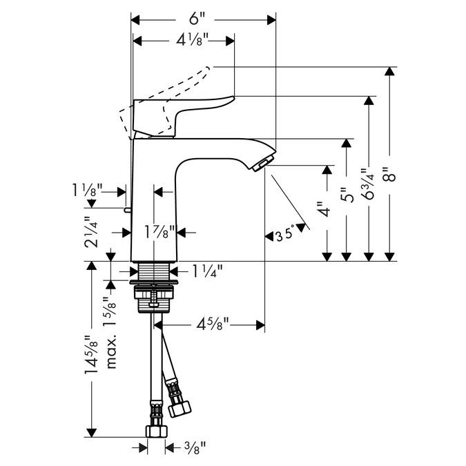 Metris Washbasin faucets: chrome, 31080001
