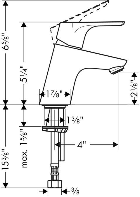 hansgrohe focus 70 hansgrohe focus e single lever basin mixer with hansgrohe focus 70. Black Bedroom Furniture Sets. Home Design Ideas