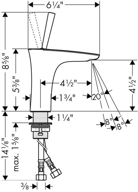 PuraVida Washbasin faucets: chrome, 15070001
