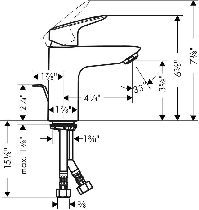 Super Logis Washbasin faucets: single lever, chrome, 71100001 JR44