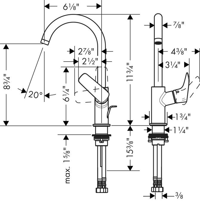 Erstaunlich Logis Washbasin faucets: single lever, chrome, 71130001 EZ61