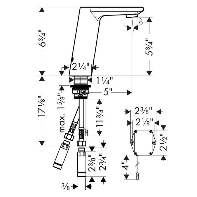 Metris S Washbasin faucets: chrome, 31101001