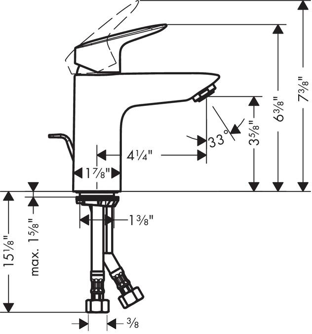 Super Logis Washbasin faucets: single lever, chrome, 71104001 JR44