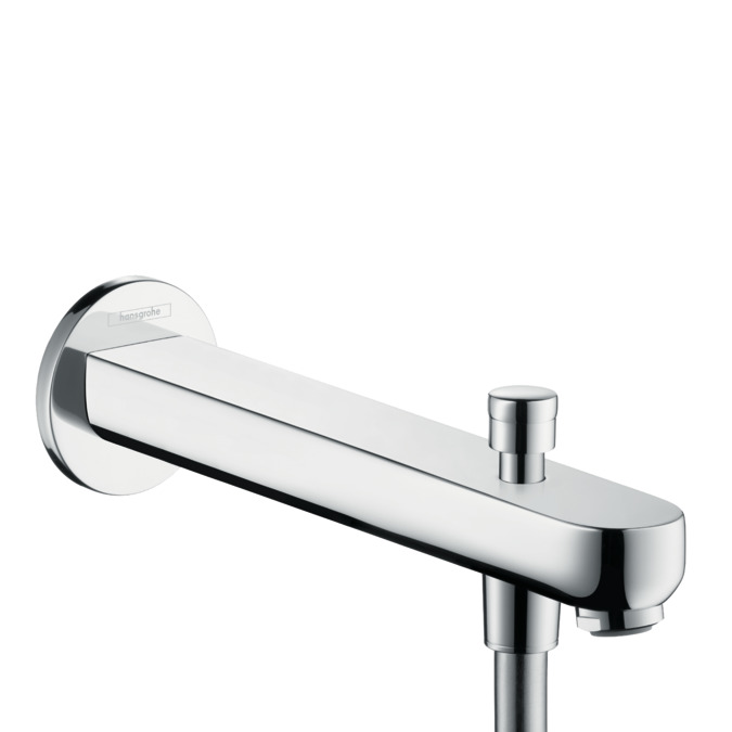 hansgrohe Bath fillers: Metris S, Bath spout 22.8 cm with diverter ...
