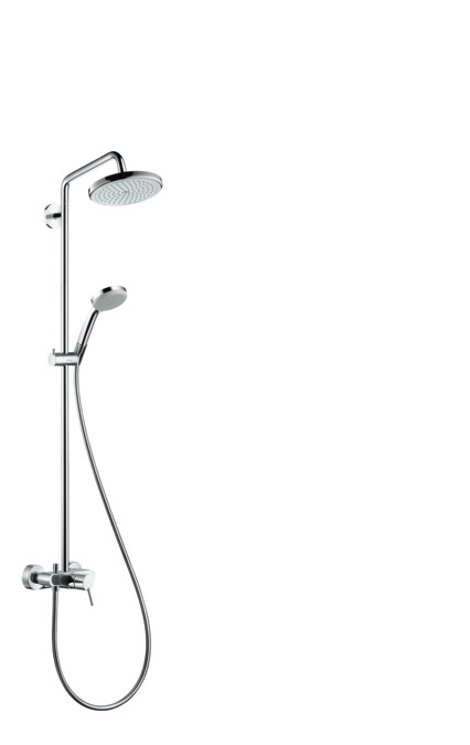 Hansgrohe showerpipes croma 1 strahlart 27222000 - Hansgrohe croma 220 ...