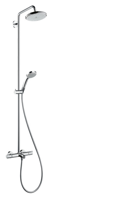 Hansgrohe shower pipes croma 1 spray mode item no 27223000 for Installer une douche exterieure