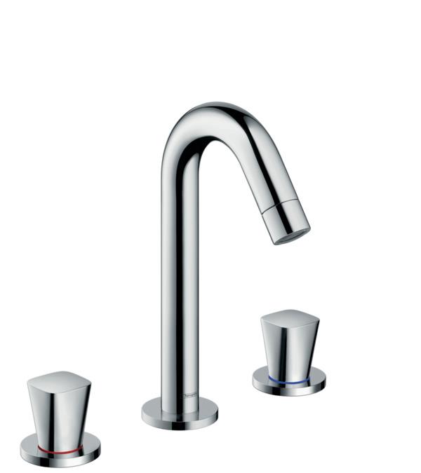 Logis washbasin mixers two handle chrome item no 71133000 - Hansgrohe pop up drain ...