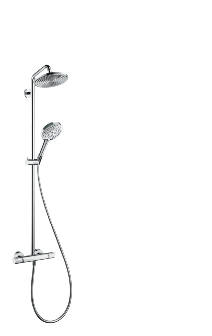 hansgrohe thermostat showerpipe croma 240 mm hans grohe rainshower 27115000 ebay. Black Bedroom Furniture Sets. Home Design Ideas