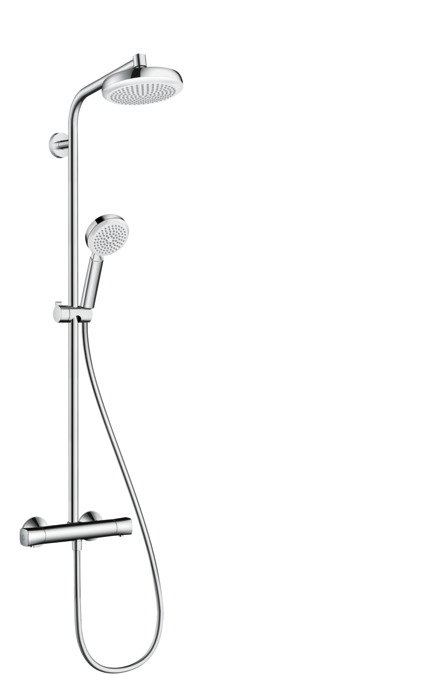 hansgrohe shower pipes crometta 1 spray mode 27264400. Black Bedroom Furniture Sets. Home Design Ideas