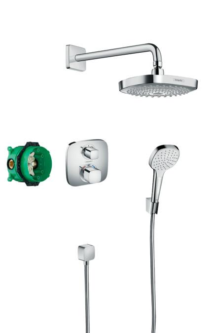 Bathroom accessories set online - Hansgrohe Shower Sets Croma Select E Design Showerset