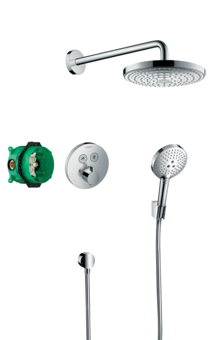 hansgrohe shower sets raindance select s design. Black Bedroom Furniture Sets. Home Design Ideas