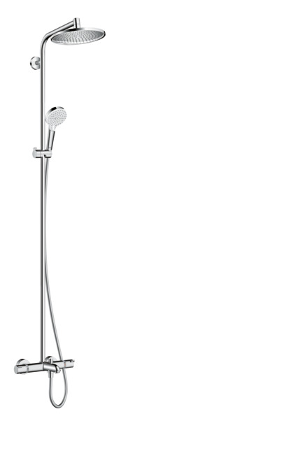 hansgrohe shower pipes crometta s 1 spray mode 27320000. Black Bedroom Furniture Sets. Home Design Ideas