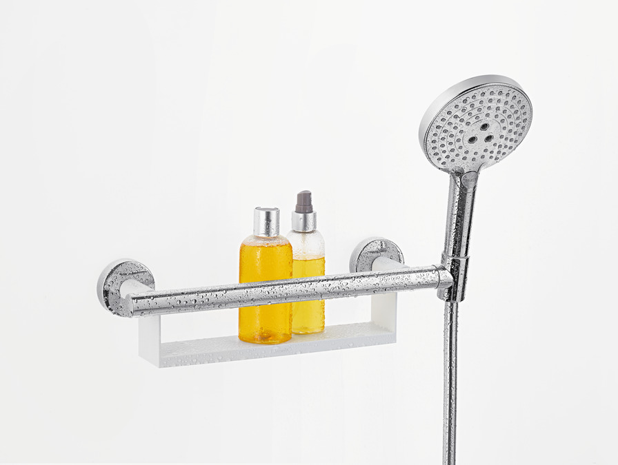 hansgrohe Shower support: Unica, Grab bar Comfort with shelf and ...
