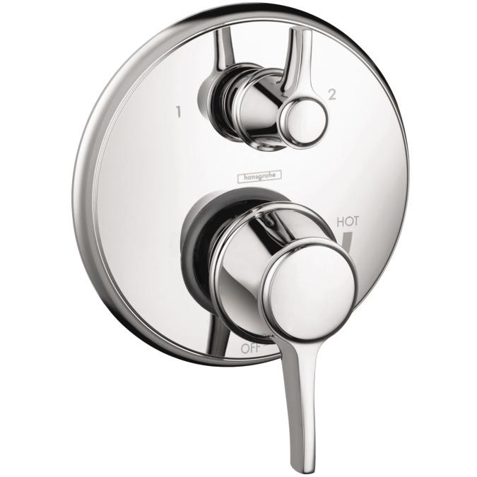 Metris C Shower faucets: 2 outlets, chrome, 04449000
