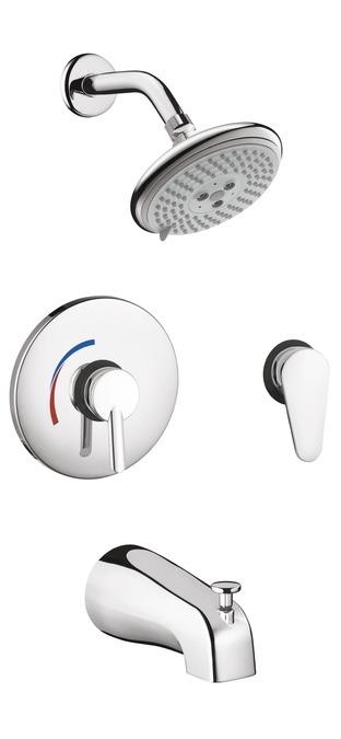 Erstaunlich hansgrohe Shower sets: Focus S Shower System Combination Set, 04465000 GA14