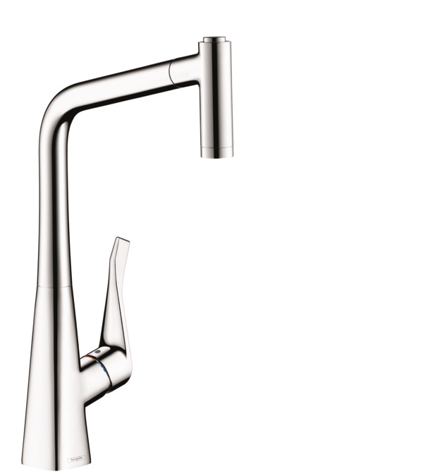 Metris 2 Spray HighArc Kitchen Faucet, Pull Out  Hansgrohe Kitchen Faucet