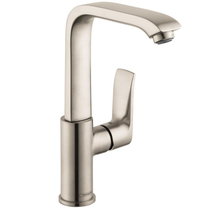 metris washbasin faucets brushed nickel 31087821. Black Bedroom Furniture Sets. Home Design Ideas