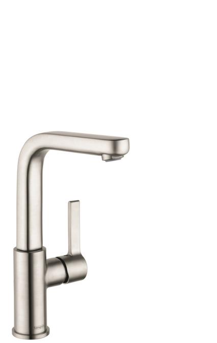 metris s washbasin faucets single lever brushed nickel. Black Bedroom Furniture Sets. Home Design Ideas