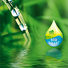 Water droplets, EcoSmart logo