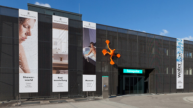 Exterior view of the Hansgrohe Aquademie.
