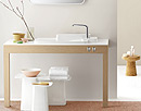 Axor vanity with furniture.
