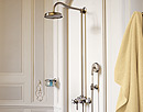 Shower with Axor shower set.