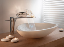 Axor Massaud wash basin scene.