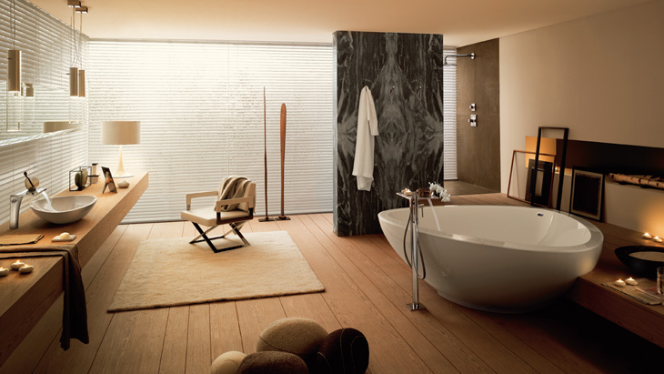 Bathroom ambience with Axor Massaud. Axor Massaud. To the bathroom collection
