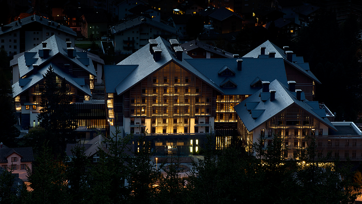 The Chedi Hotel in the Alps.