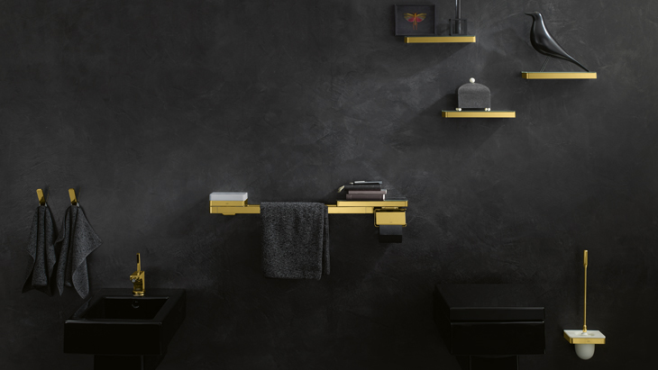 axor universal bathroom accessories in gold finish